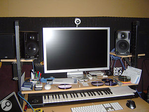 These pictures show Jody's studio before the treatment. Although the room had originally been designed with soundproofing in mind, there'd been practically no attention paid to acoustic treatment.