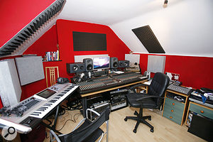 After our visit, it looks much more professional, full of top-notch gear. Just as importantly, his studio will sound much better with the benefit of Ghost and Auralex acoustic treatment, plus the new Genelec monitoring.