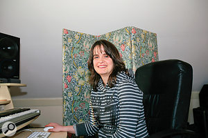 Kate Ockenden at her newly re-jigged studio.