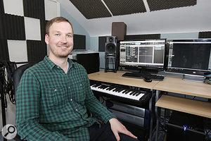 Paul Allen in his studio.