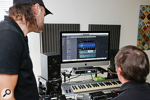 Logic's EQ was used to negate some of the room's remaining frequency anomalies.