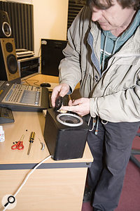 Paul White performs radical open-tweeter surgery on a faulty speaker.