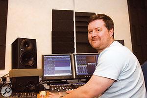Stu Evans in his revamped studio.