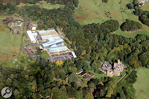 An aerial view of Lews Castle College in the Outer Hebrides.