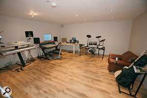 Although Kevin had completed the building and decorating work to turn his garage into astudio, there remained plenty to be done — not least some form of treatment to control the acoustics and make the space suitable for recording and monitoring.