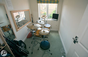 The 'live room' was a narrow, boxy room and not ideal for recording. We had a challenge on our hands!