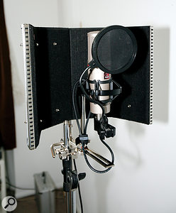 We showed Roshan how to get the best out of his AKG SolidTube microphone, both in terms of placement and shielding when recording, and EQing the resulting signal to suit his voice.