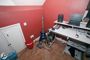 Tom Hennessey's small studio was set up in arather cramped loft‑conversion bedroom.