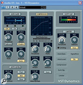 Phil's compression setting, shown here, was already very suitable for adding body to Jessica's well-controlled vocal delivery.