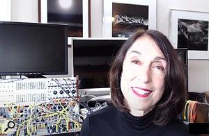 Suzanne Ciani in her LA home studio