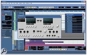 My completed synth at work in Cubase 4.
