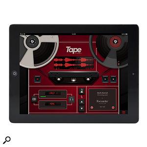 Focusrite Tape app for iPad