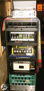 Michael Brauer's rack of tape delay devices.