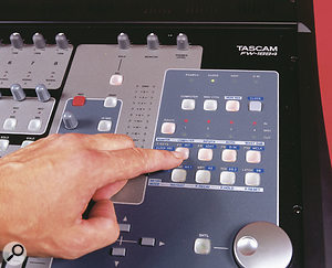 The FW1884 and host sequencer can be switched between different automation modes at the touch of a button.