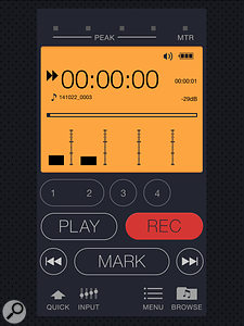 The recorder can be controlled remotely via Wi–Fi using this dedicated app, available for both iOS and Android devices.