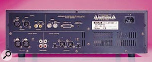 The rear panel is well-equipped with balanced and unbalanced analogue I/O plus AES and S/PDIF digital I/O.