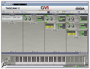 GVI features four bundled NFX effects, which sound good and run with low CPU overhead, although sadly they don't currently provide preset handling.