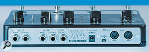 The Alter Ego X4 caters for mono and stereo sources, as well as an external expression pedal.