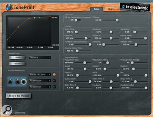Despite the limited number of hardware controls, the TonePrint system grants you access to a  whole library of presets, as well as editing software which allows you to tweak in far more detail.