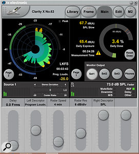 The system includes TC's now-familiar software loudness metering, and offers useful figures for professional environments, such as loudness exposure dosage.