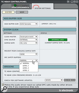 To combat the audio drop-out problems some PC Konnekt users have been having, TC offer three levels of Safety Buffer.