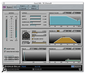 Chorus Delay is based on the TC Electronic 1210 Spatial Expander.