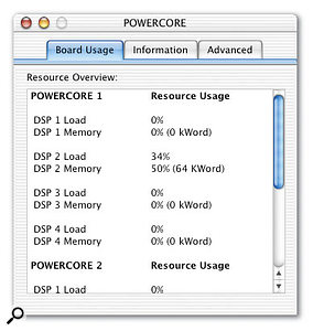 The Powercore Firewire provides 50 percent more processing power than its PCI cousin.