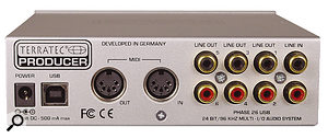 The Phase 26 USB provides stereo input, switchable between analogue, co-axial and optical, and six-channel output.