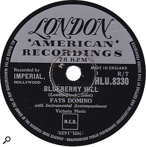The Mix Review 0118: Fats Domino Blueberry Hill 78rpm single.