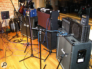 A typical Toby Wright guitar amp setup...