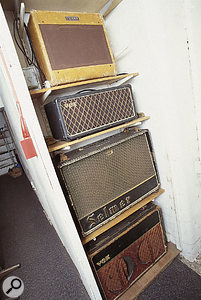Toe Rag's vintage equipment selection extends to guitar amps.