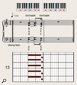 The cool, sophisticated jazzy voicing used in Miles Davis' 'So What' introduces a  low fourth interval under the minor-seventh chords.