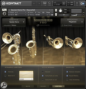 Amongst its other tricks, Native Instruments Session Horns Pro provides tempo-sync'ed forte-piano crescendos which can be time-stretched to the length you require.