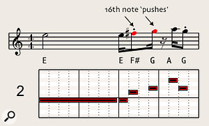 The real-life version of the Chi-lites horn lick, featuring a dancey, syncopated rhythm. Transcribed by Dave Stewart.