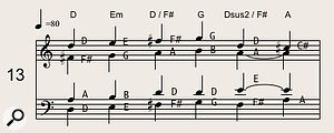 Chorale-style writing, featuring wider intervals and traditional classical harmony, works well in horn arrangements, particularly for slower, more reflective music.