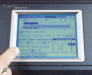 Sampling and keygrouping remains as easy as ever via the touchscreen.