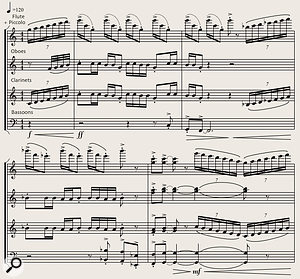Picture 9: Extract from 'Spirit Of Adventure', used by kind permission of its composer Miles Hankins. Copyright ASCAP.
