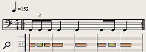 Diagram 3: This repeated 5/4 single-note timpani pattern underpins the opening 39 bars of Gustav Holst's 'Mars, The Bringer Of War'.