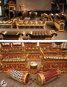 Top: Javanese gamelan, bottom: Balinese gamelan.