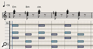 Diagram 9: Spooky staccato flute chords from a  sci-fi chiller.
