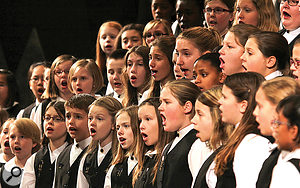 A mixed-voice children's choir.
