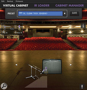 The lively stage and hall environments are almost too convincing, but dialling back the 'wet' a bit makes them very usable if you are looking for a less controlled, exciting recorded sound.