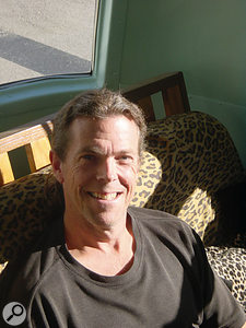 Joe Bryan in Universal Audio's travelling studio/demonstration bus.