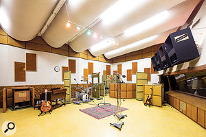 Studio A's live area is the larger of the two recording spaces.