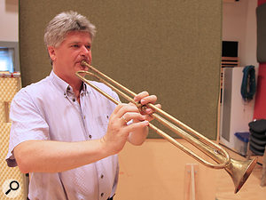 Natural trumpet player Fredy Staudigl.