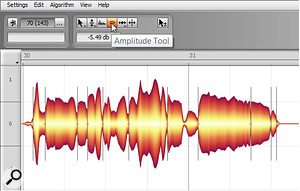 Melodyne's magical properties extend to normalising volume levels.