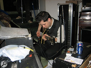 Walkmen guitarist Paul Maroon takes a solo in the band's now-defunct Marcata Studios.