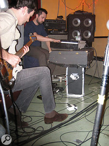 Prior to the recording of Pussy Cats and the Walkmen's 'official' third album, A Hundred Miles Off, Walter Martin (left) swapped band roles with original bass player Pete Bauer (right).