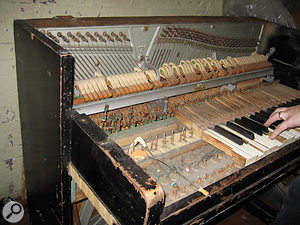 The band's notorious Aeolian piano, which later became something of an eBay star.