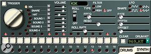 Kik Axxe's drum-sequencer controls.